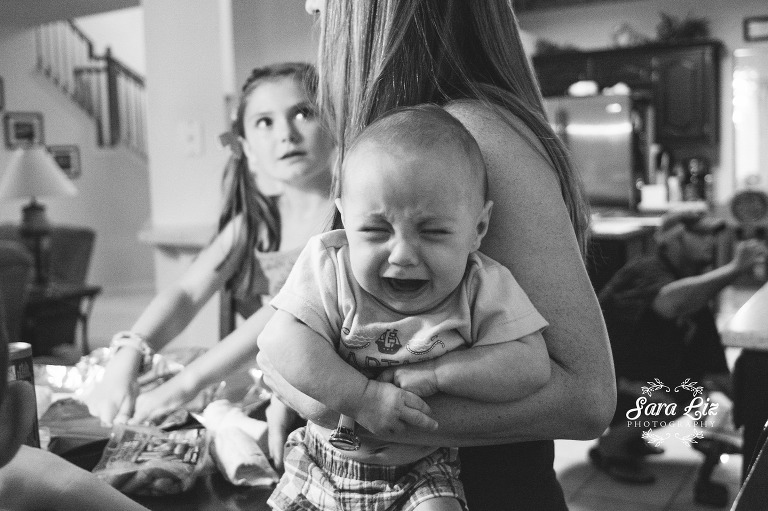 angry baby - Documentary Family Photography
