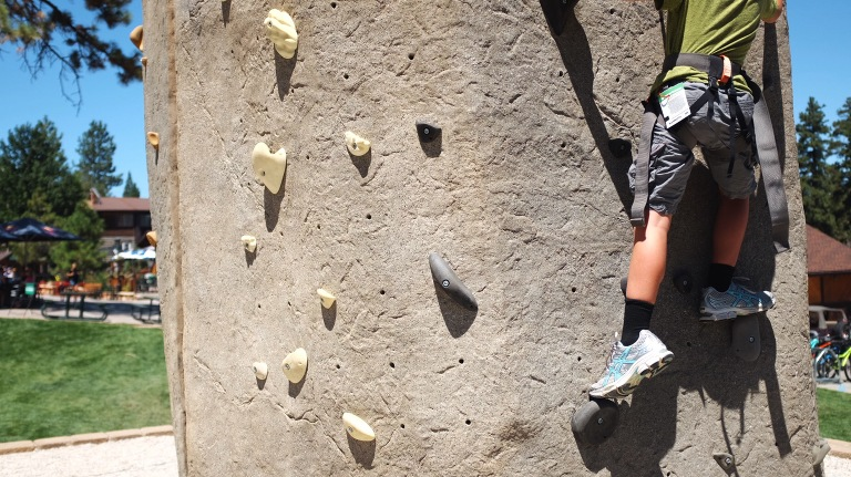 child on climbing wall - Documentary Family Photography