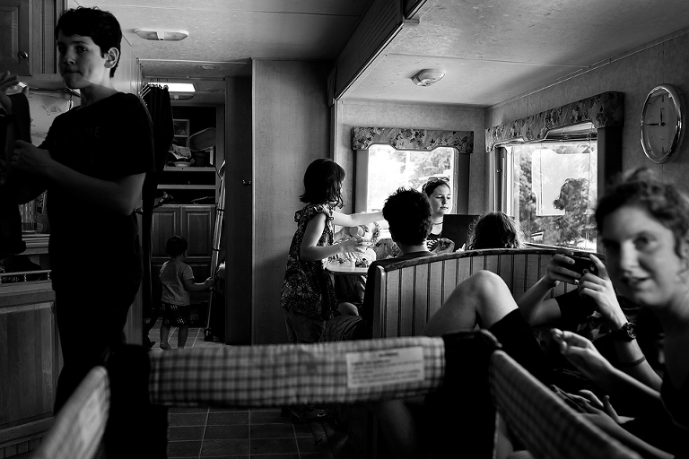 family in kitchen - Documentary Family Photography