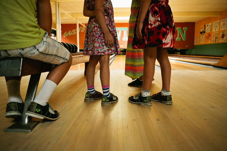 girls with dresses and sneakers -Documentary Family Photography