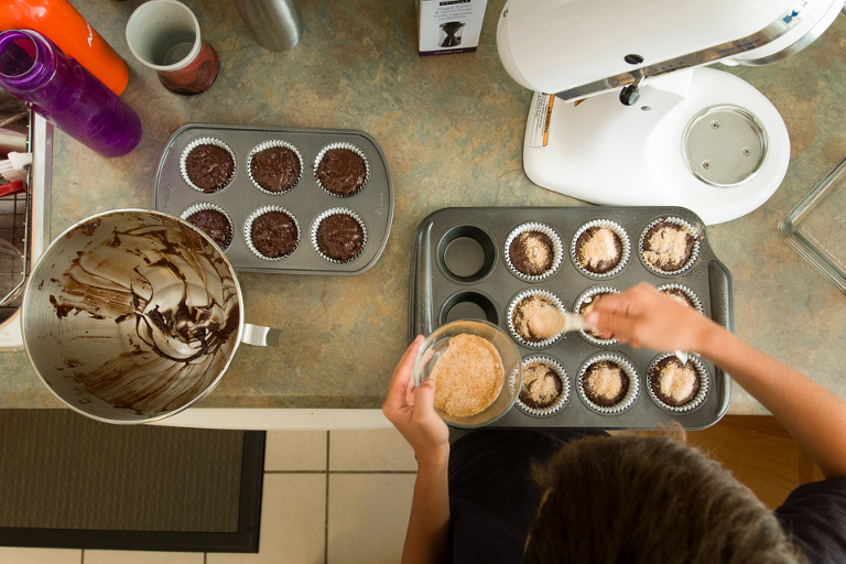 making muffins - Documentary Family Photography