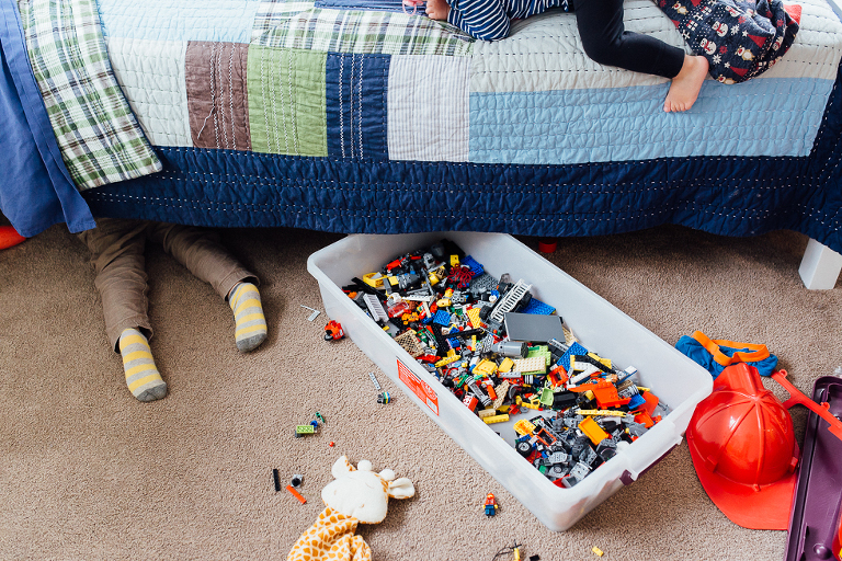 boys with legos in bedroom - Documentary Family Photogarphy