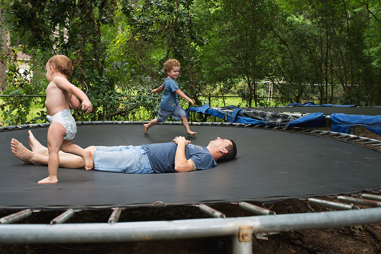 kids on trampoline - Documentary Family Photography