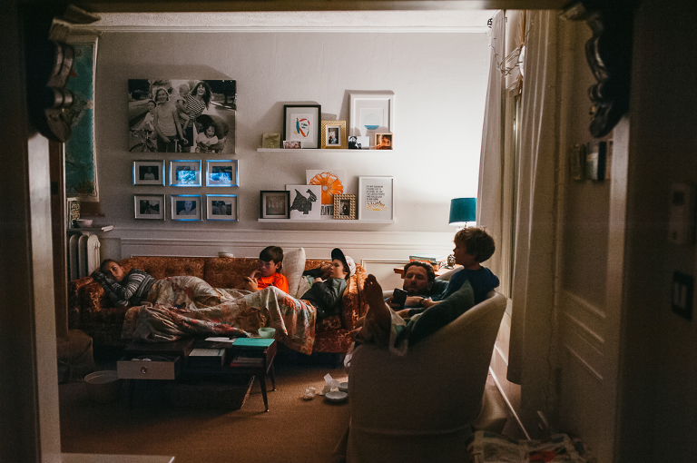 family in living room - Documentary Family Photography