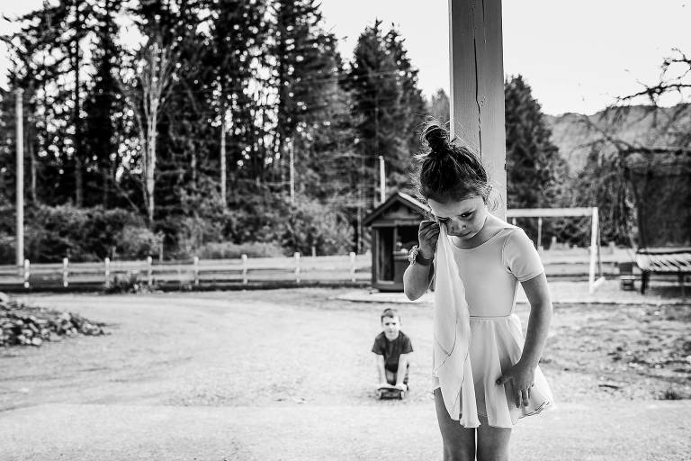 angry ballerina - documentary family photography