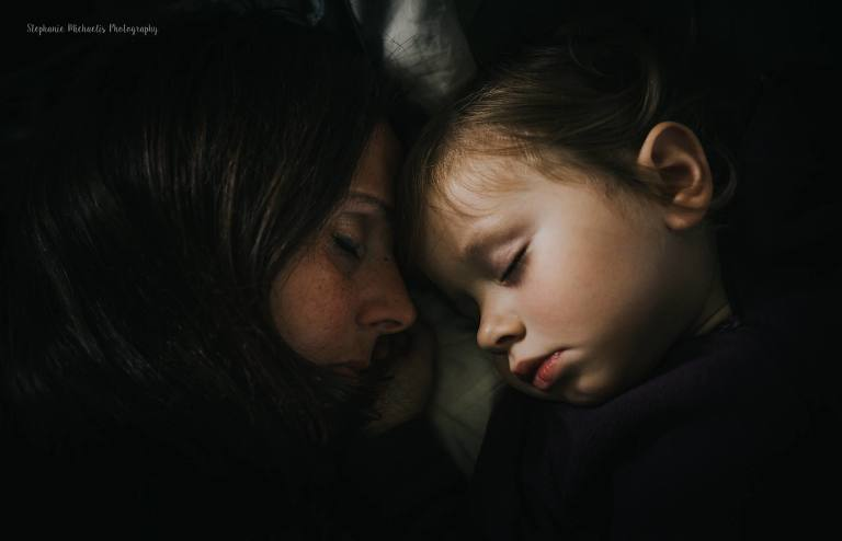mother and child asleep - documentary family photography