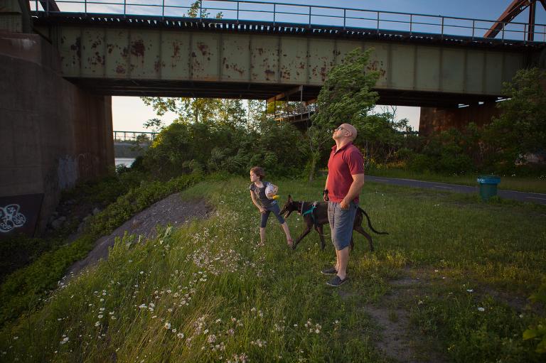 Family near overpass - Documentary Family Photography