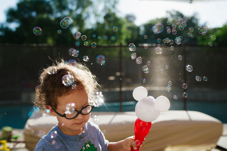 boy with bubbles - Documentary Family Photography