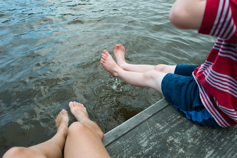 feet in water off dock - Documentary Family Photography