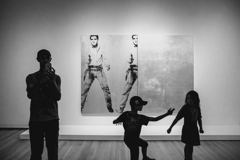 kids dancing in museum - Documentary Family Photography