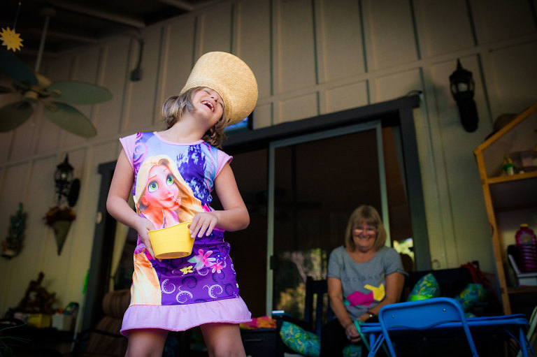 girl with silly hat - Documentary Family Photography