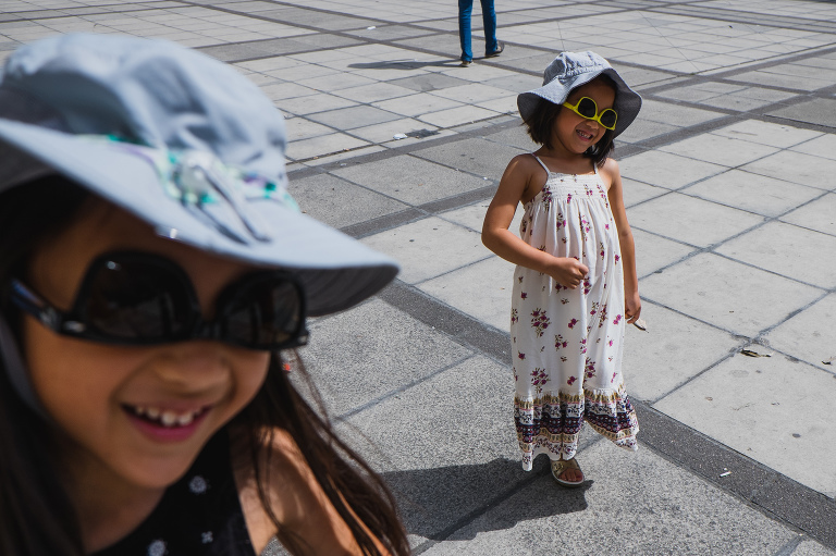 girls in hats - documentary family photography