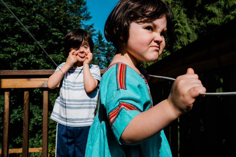 Kids make faces - Documentary Family Photography