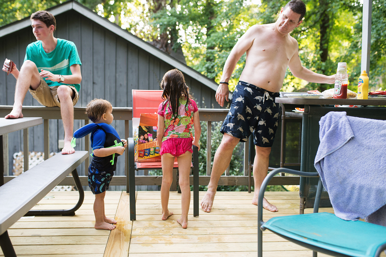 family in swimsuits - documentary family photography