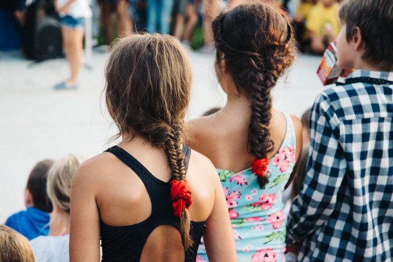 girls with braided hair - documentary family photography