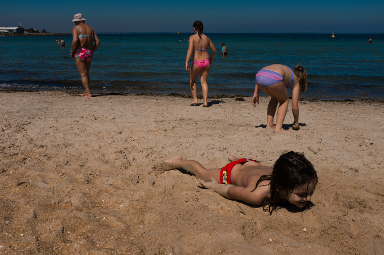 Kids at beach - documentary family photography
