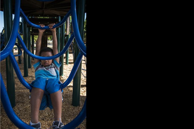 kid on playground - Documentary Family Photography
