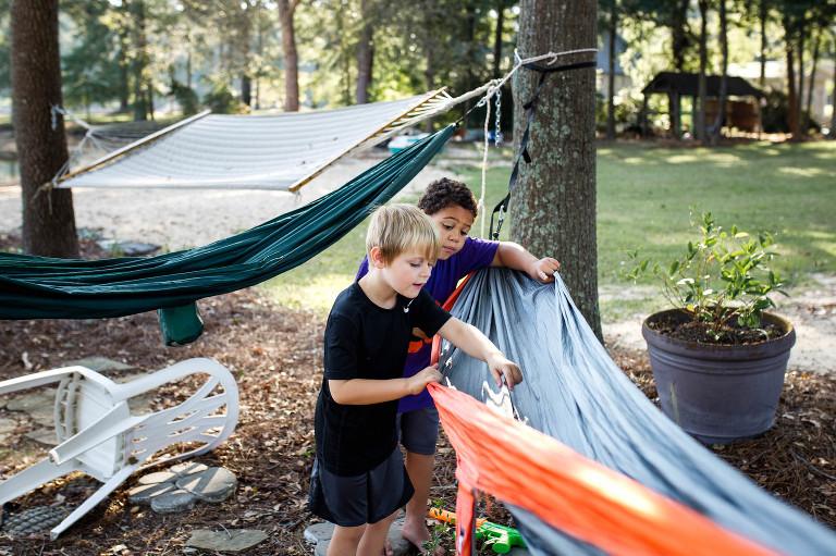 boys and hammock - Documentary Family Photography