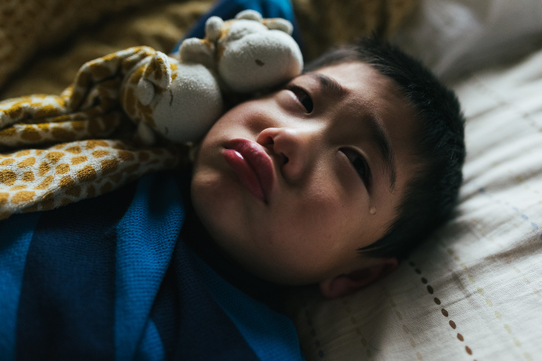 boy pouts - Documentary Family Photography