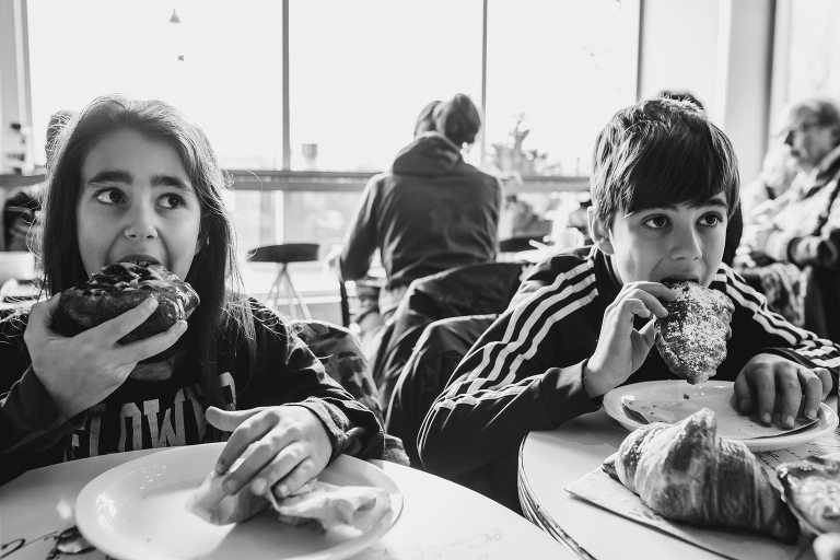 kids eating pastries - Documentary Family Photography