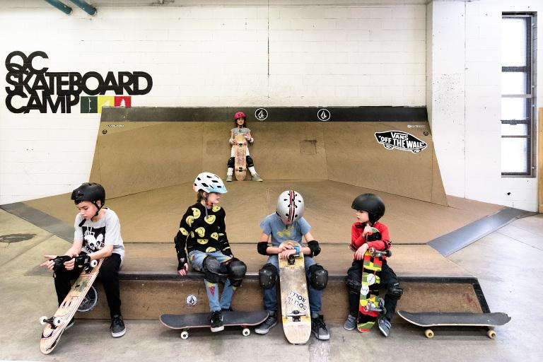 kids at skate park - documentary family photography