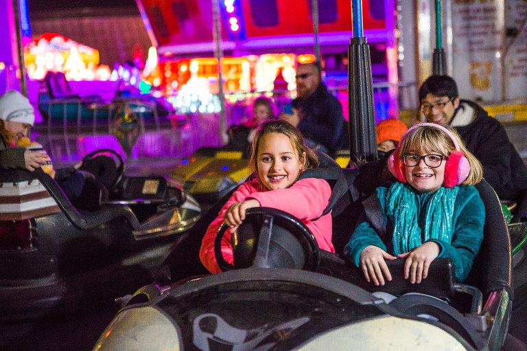 girls on go cart - Documentary Family Photography